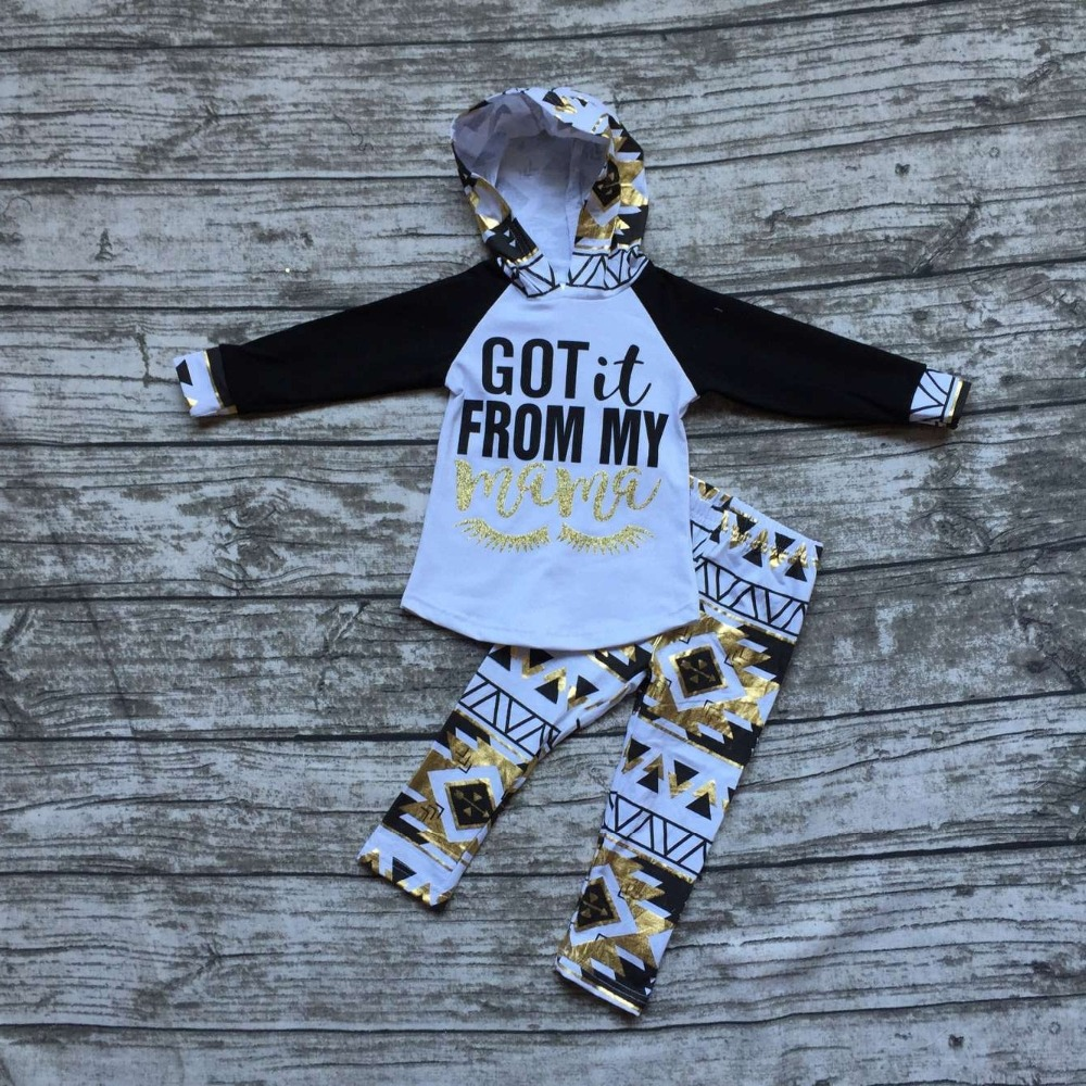 Fall clothes kids long sleeve outfits baby girls hoodie got it from my mama outfits aztec clothing children boutique sets fall halloween clothes cutest pumpkin short sleeve orange black sequins suit children boutique long pants with matching bow set