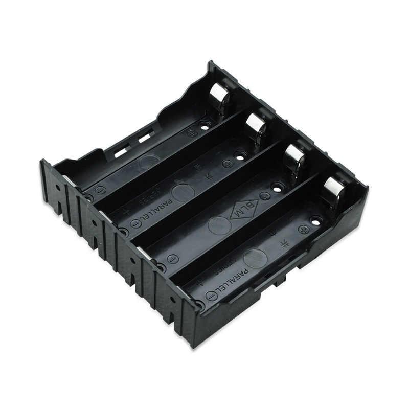 """4 шт/партия черный пластиковый держатель батареи чехол Зарядное устройство для 4X18650 Держатель 14,4 V """"без провода 18650 Держатель батареи"""