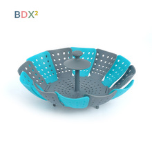 Multi-Function Lazy Steamer Container Fruit Vegetable Basket Drain Bowl Kitchen Creative Tools Foldable Dishes