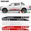1 пара  автомобильные аксессуары для Nissan Navara NP300 D40 Nismo JDM  наклейки с полосками на двери  Стайлинг автомобиля