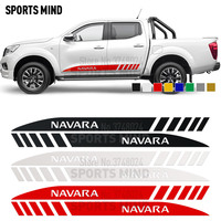 1 Pair For Nissan Navara NP300 D40 Nismo JDM Car Accessories Door Side Stripe Car Sticker Decal Automobiles Car Styling