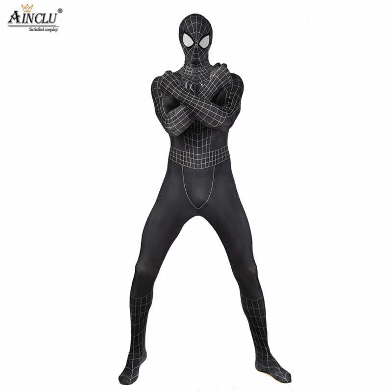 Halloween Costumi Cosplay Nero Spider Man 3D Stampato Spider Suit Spider man Adulti Bambini Bambini Spider Cosplay Abbigliamento CH