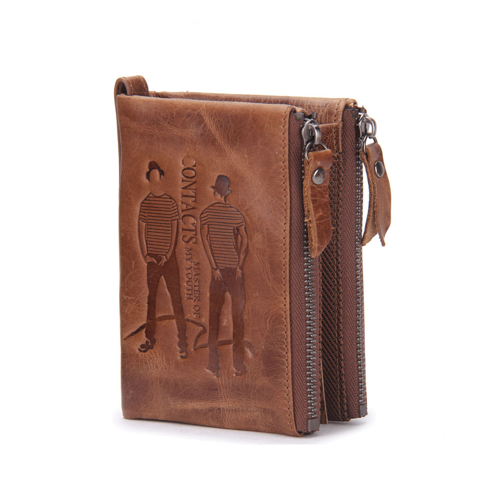 ФОТО Hot Selling Men's Wallet Genuine Leather Handbags European And Amercian Style Fashion Leisure Purse Wallet Cowboy Male Package