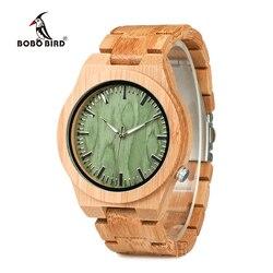 BOBO BIRD V B22 oryginalny bambusowy zegarek męski klasyczny składane zapięcie zegarek kwarcowy na rękę erkek kol saati w Zegarki kwarcowe od Zegarki na
