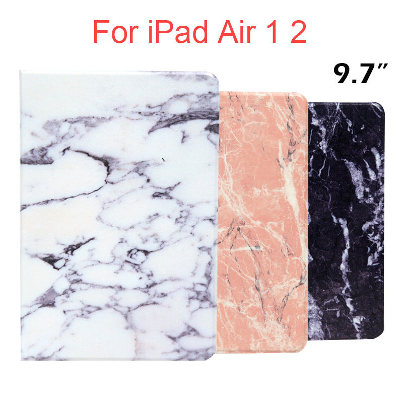 цены  For iPad air 2 1 Tablet Cases 9.7'' Marble Pattern Slim PU Protective Stand For Apple iPad 5 6/air 1 2 Shockproof Smart Cover