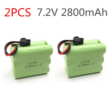 2 Unid 7,2 V batería 2800 mAh ni-mh batería 7,2 V pilas recargables nimh 7,2 V aa tamaño ni mh para rc coche juguete herramientas eléctricas