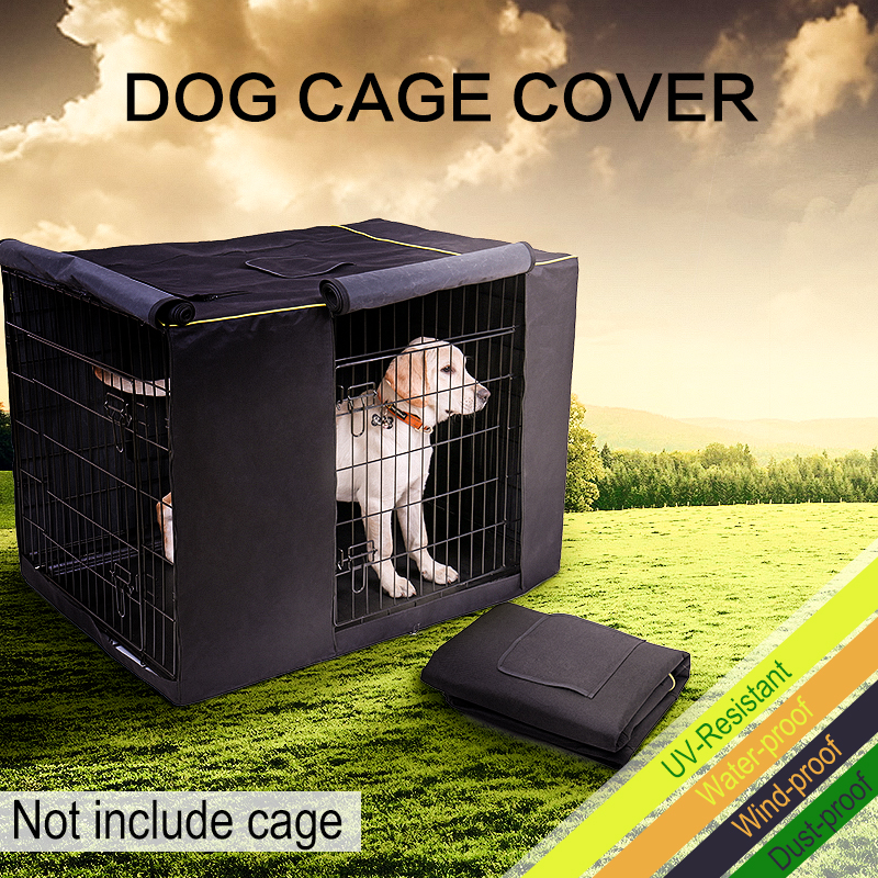 Dog Kennel House Cover Waterproof Dust-proof Durable Oxford Dog Cage Cover Foldable Washable Outdoor Pet Kennel Crate Cover 1