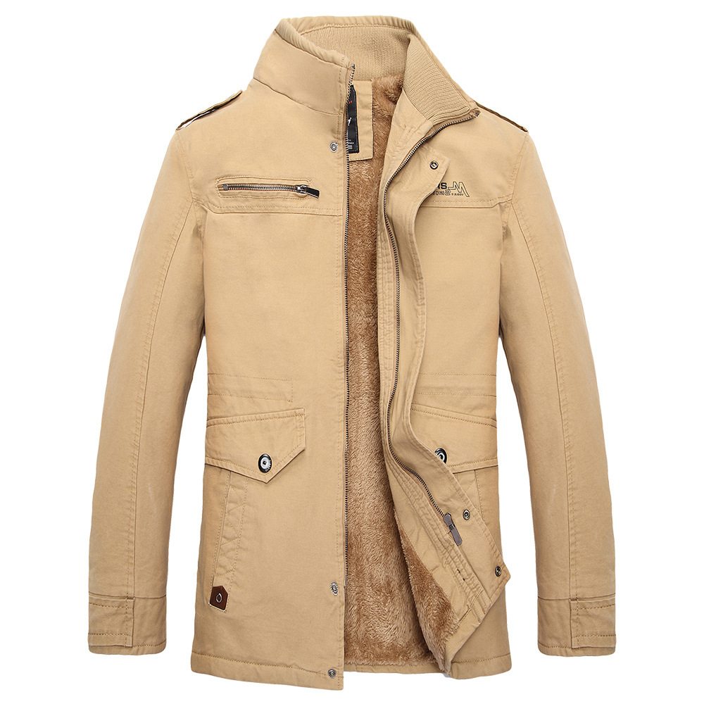 a9c1da23a 2017 Autumn Winter New Casual Stand Collar Miltary Style Casacas Para Hombre  Warm Medium Long Winter Men Parka Thick-in Parkas from Men's Clothing on ...