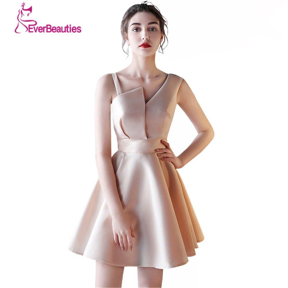 A line Satin Bridesmaid Dresses 2017 Knee Length Wedding Party Dresses Robe Demoiselle D honneur Wedding