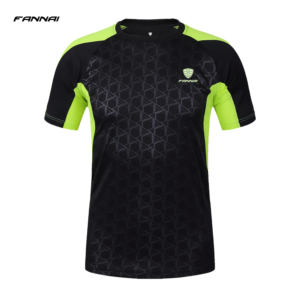 FANNAI Brand Summer Running Shirt Men Gym Sport T Shirt Fitness Jersey Short Sleeves Quick Dry Training Men'S Sportswear santa dxman short sleeves t shirt for men