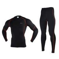 Hiver sous-vêtement thermique hommes Compression couche de Base Sport cyclisme couches de Base chaud manches longues ensembles pour cyclisme/randonnée/ski