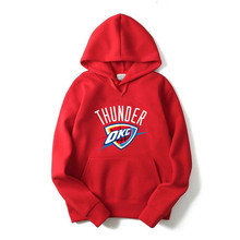 New brand Hoodie Streetwear Hip Hop Hooded Hoody Mens printing letter THUNDER OKC cloting long sleeve Hoodies Sweatshirts M-XXL