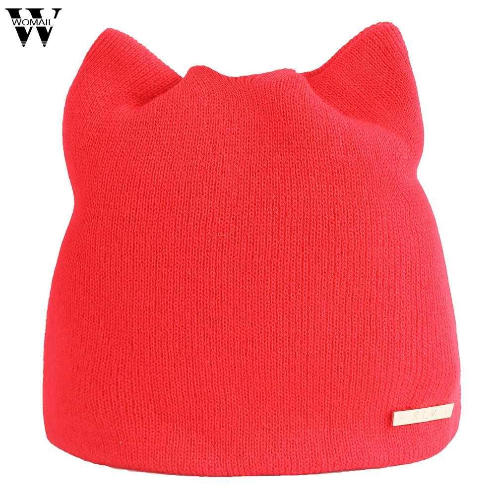 春の冬の帽子画家スタイルビーニーロシアキャップ暖かい猫帽子耳あて帽子女性ウールヴィンテージ
