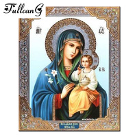 Mosaic 3D Diy Diamond Painting Religious Icon Home Decoration Diamond Embroidery Classic Style Full Square Rhinestone