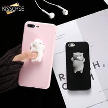 Kisscase Squishy Cat Мягкий чехол для телефона iphone 5S SE 6 6 S симпатичный чехол для iphone 8 7 6 S 8 плюс 3D кукла телефон Аксессуары Капа Новый чехол на айфон 5s чехол на айфон 6