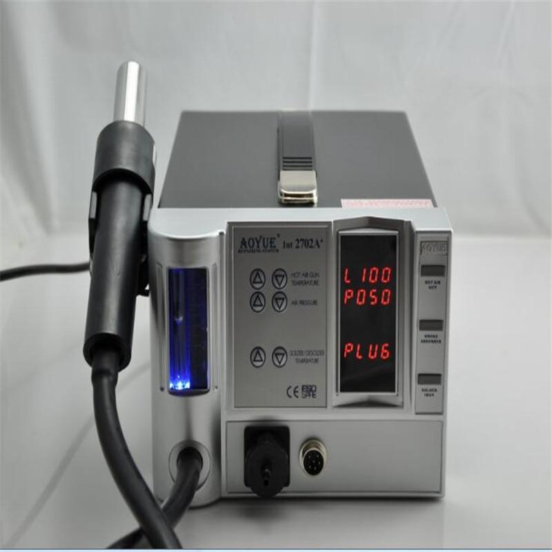 цены 220V 3 IN 1 Lead Free Repairing system, soldering desoldering station of Aoyue 2702A+ ,Hot Air gun +Desoldering gun