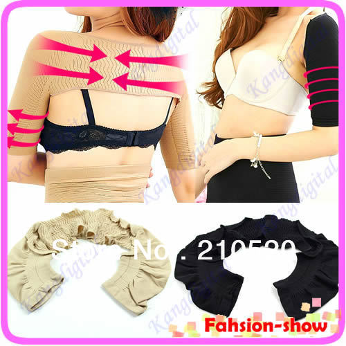 New Womens Shoulder Arm Control Shaper Shapewear Slimmer Girdle Arm Shaper Black / Nude