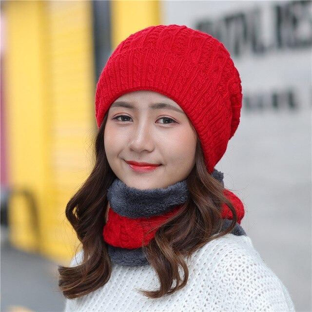 Femmes velours de laine Skullies Bonnets automne hiver noir rose rouge blanc  gris bonnet Coréenne adulte
