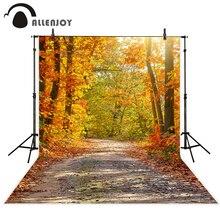 Allenjoy fotografia backdrop Bonito outono folhas de outono bela floresta novo fundo photocall personalizar foto impressa