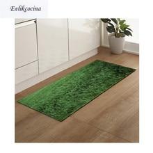 Free Shipping Green Grass Land Non Slip Absorbent Bath Mat Area Rug for Living Room Bedroom Floor Carpet Tapete Infantil