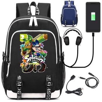Рюкзак Splatoon USB зарядка и кабель бесплатно