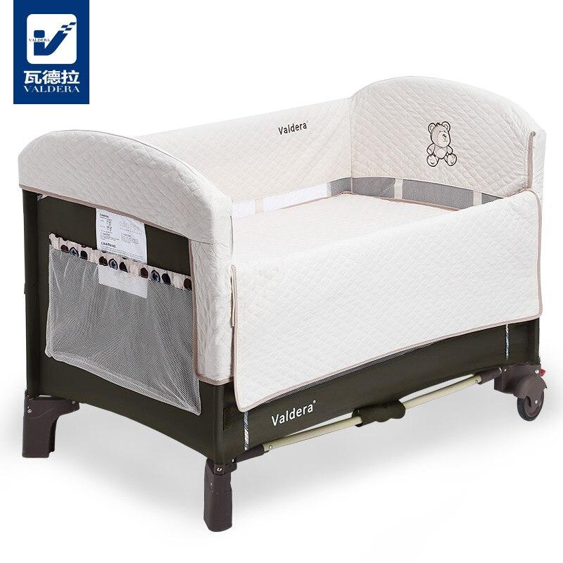 Lit bébé Valdera, Table articulée multifonctionnelle portative pliante de berceau de jeu