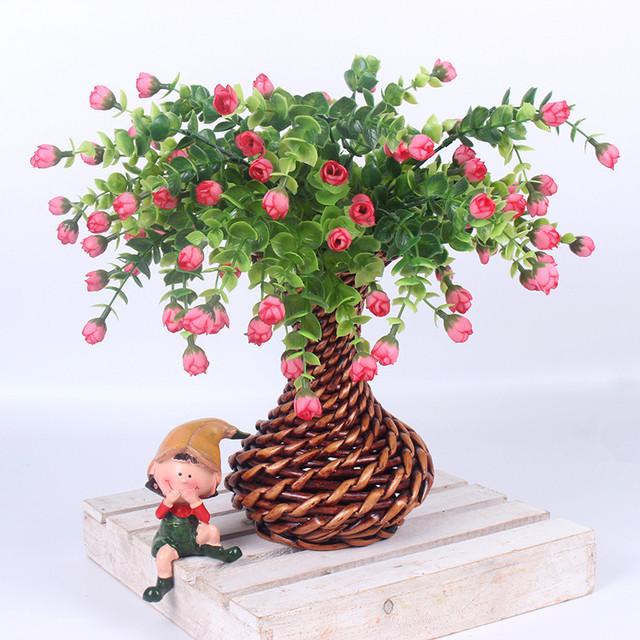 Mini Colorful Rose Artificial Flower Bush