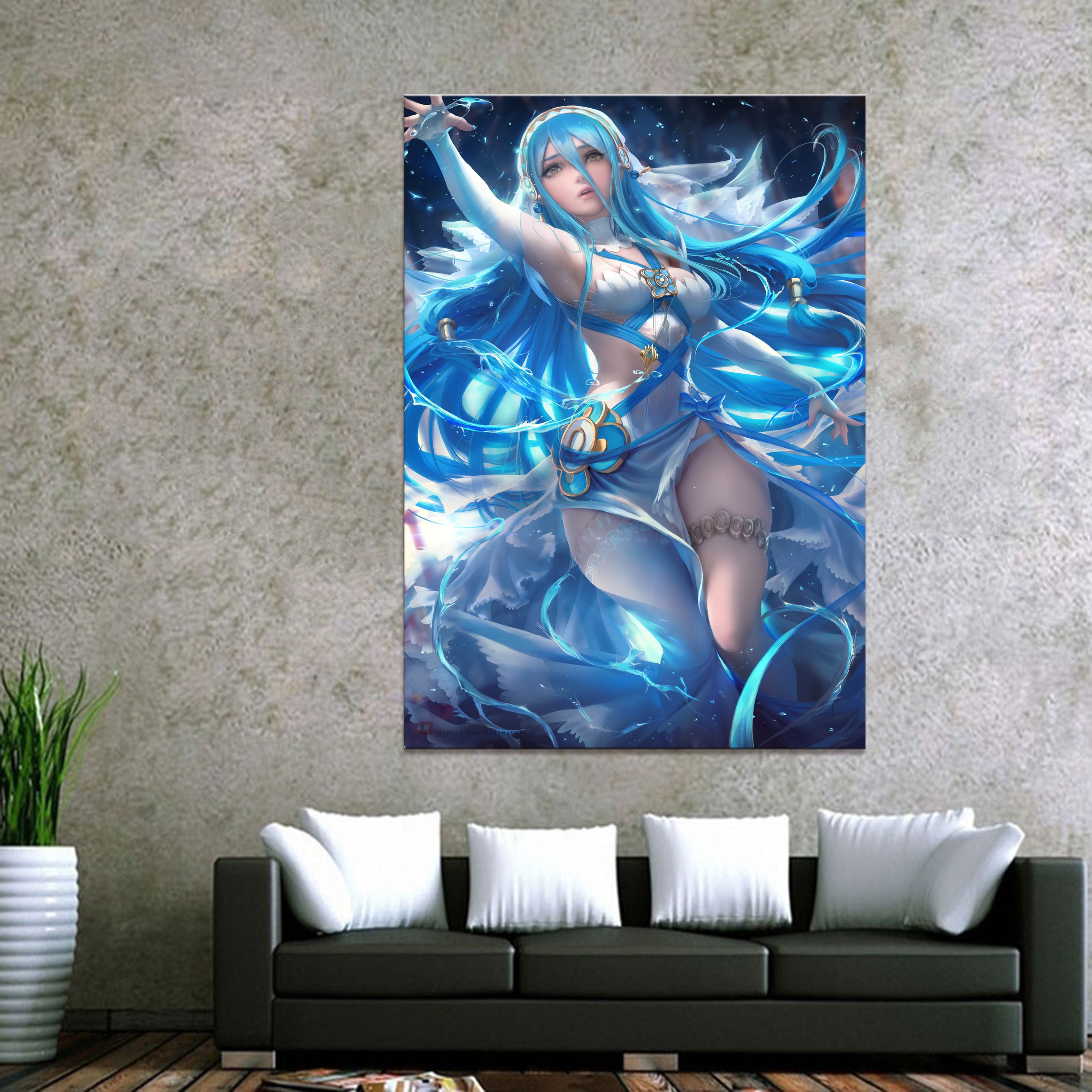Home Decor Canvas Fire Emblem Azura Game 1 Piece Anime Sexy Girl Art Poster Prints Picture Wall Decoration Painting Wholesale in Painting Calligraphy from Home Garden