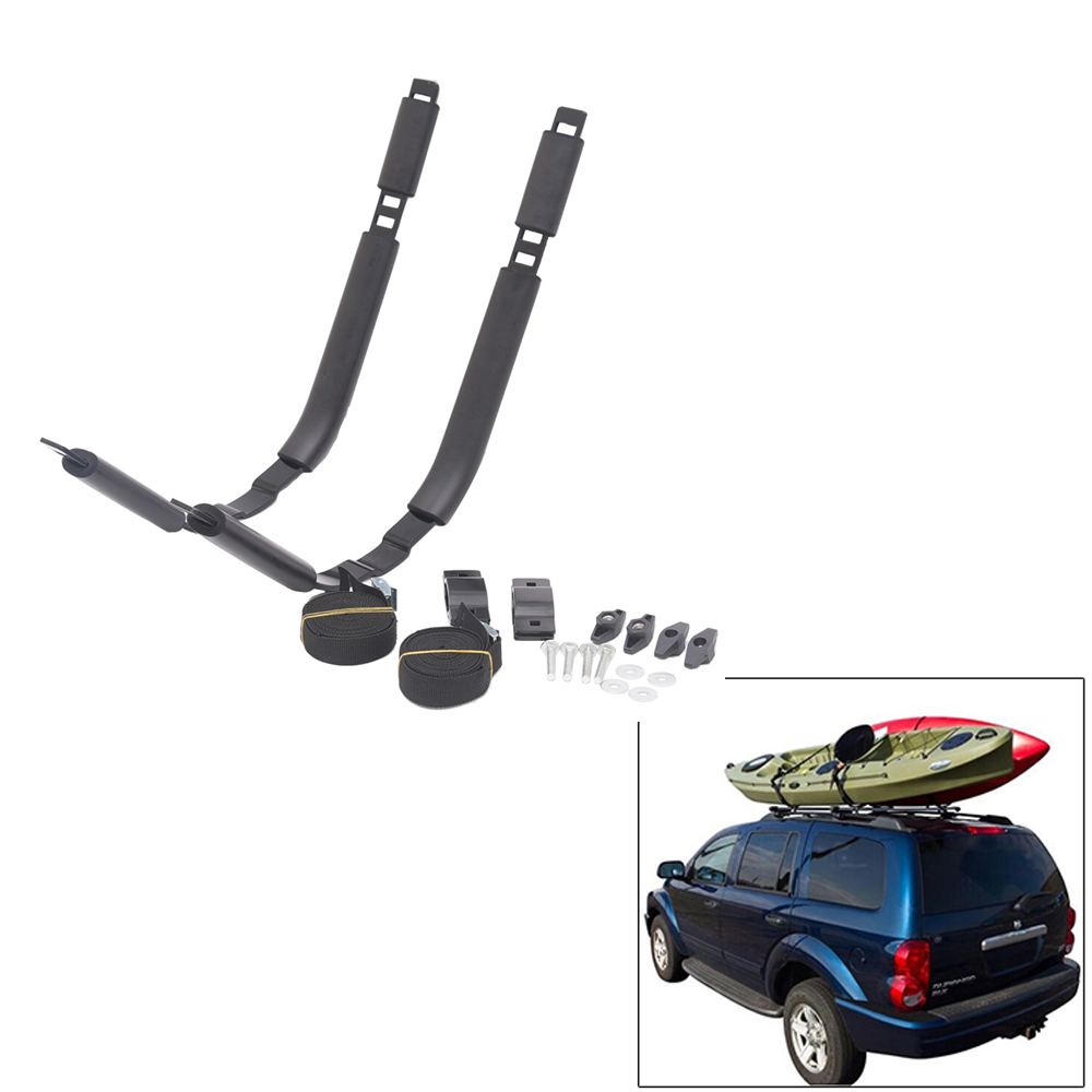 Kayak Roof Carrier >> Us 35 57 18 Off Kayak Roof Rack Set 2 J Racks Top Carrier Holder Kayak Accessories For Canoe Surfboard Fits On Vehicle Truck Cross Bar Us Stock In