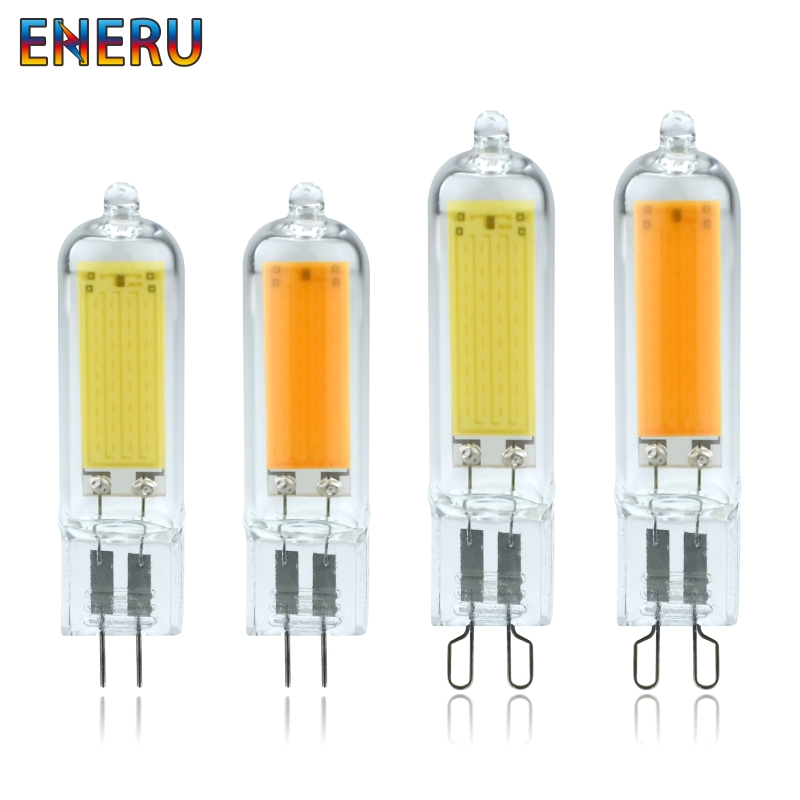 Dimmable LED G4 G9 Light Bulb 6W 9W 220V COB Glass LED Lamp Replace 40W 60W Halogen Bulb for Pendant Lighting Fixture Chandelier image