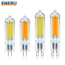 Dimmable LED G4 G9 Light Bulbs 6W 9W COB Glass Lamps Replace 40W 60W Halogen Bulb for Pendant Lighting Fixture Chandeliers