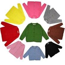 Осенний хлопковый свитер; Топ; одежда для маленьких детей; кардиган для маленьких мальчиков и девочек; вязаный кардиган для мальчиков и девочек; свитер; детская весенняя одежда