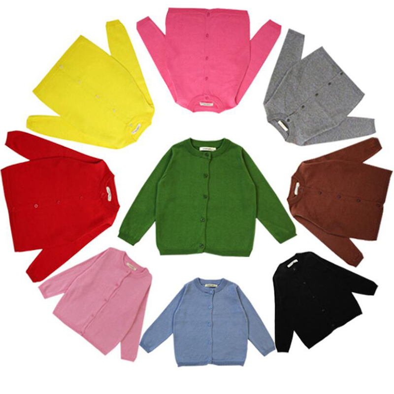 Autumn Cotton Sweater Top Baby Children Clothing Baby Boys Girls Cardigan Boys Girls Knitted Cardigan Sweater Kid Spring Clothes