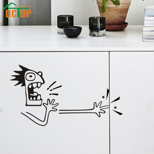 DCTOP New Design Funny Clip Hand Wall Stickers Home Decor Vinyl Adhesive  Kitchen Car Door Wall Part 49