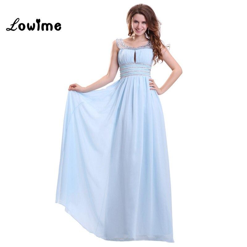 long light sky blue graceful prom dresses women evening
