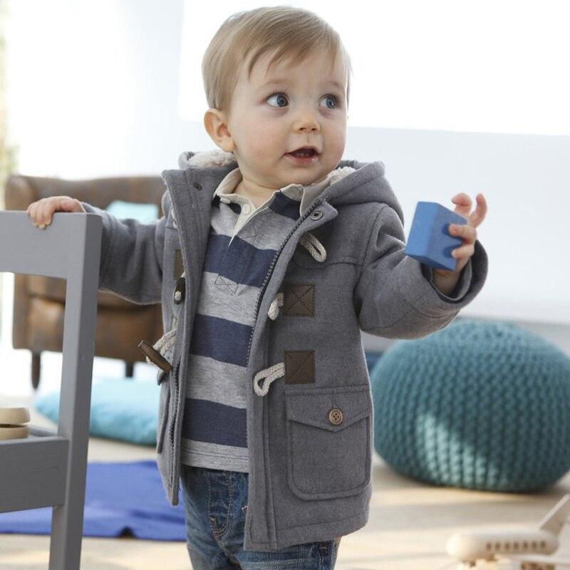 bdd6ca052 SAILEROAD 1-6 años invierno Bebé niño Outerweat chaqueta abrigo otoño  grueso lana niños ropa