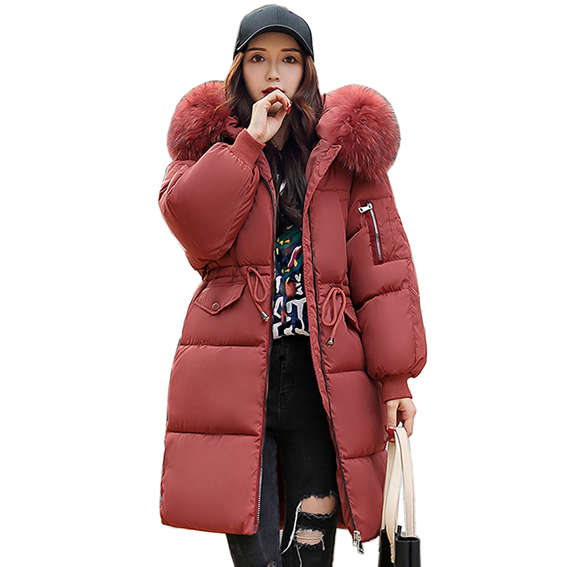 New style Winter Jacket Women Coats Artificial collar Female   Parka   Thick Cotton Padded Lining Winter Coat Ladies Plus Size   Parka