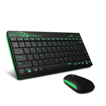 Rapoo8000/X220/X225  mini 2.4GHz USB wireless keyboard and mouse combo without batteries Gift Russian alphabet keyboard stickers