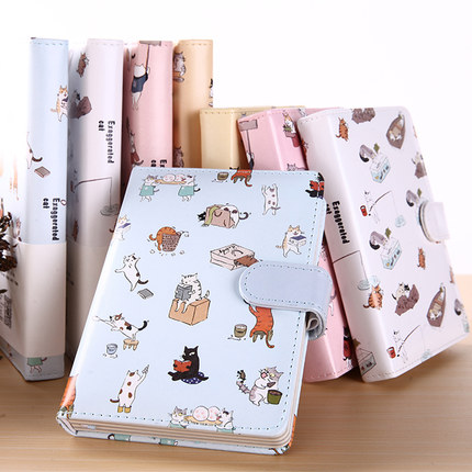 50K Diary Cat Magnetic Magnetic Cute Lovely Leather Color Page Notebook Personal Diary / Weekly Plan / Agenda Fashion Notepad my beauty diary 10 page 3