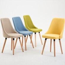 Стул современный простой Повседневный скандинавский кофе ресторан гостиничный стол домашняя скамейка твердый деревянный обеденный стул спинка
