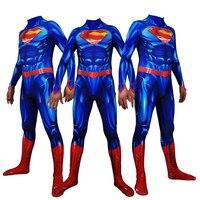 Super hero Superman Cosplay Superhero Costumes Halloween lady's male tights Bodysuit Suit Jumpsuits Adult Kids Kostuum Zentai