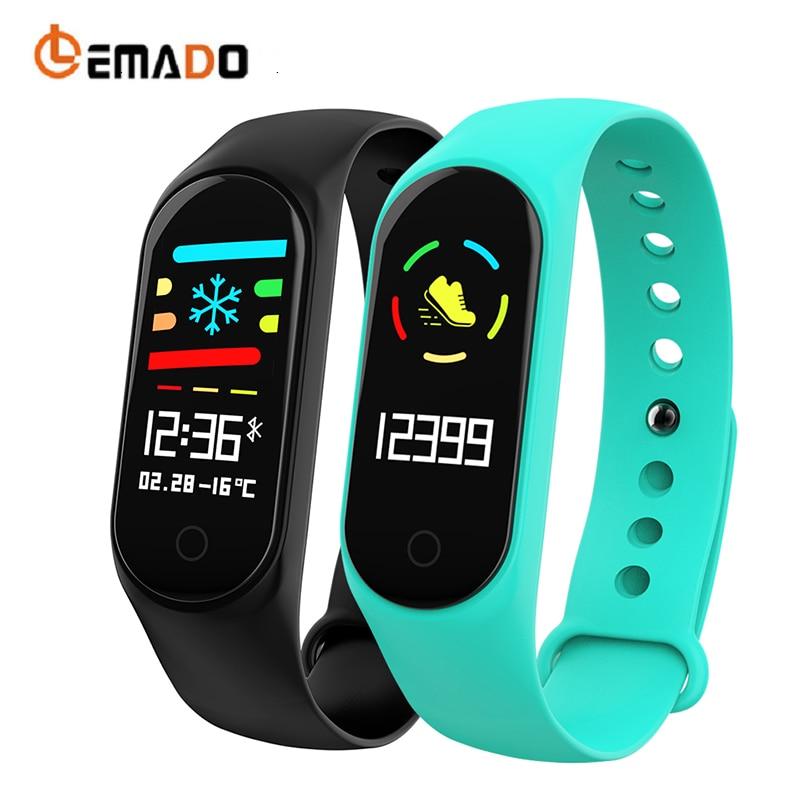 LEMADO Smarrt Fitness Armband Wasserdichte Multi-sport Modus Tracker Blutdruck Sauerstoff Farbe Bildschirm Armband PK Mi Band 3