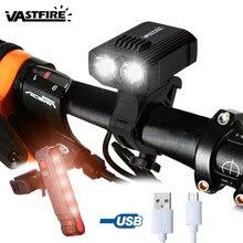 À prova dwaterproof água usb recarregável bicicleta luz 5 modos de luz mtb ciclismo luz built-in bateria bicicleta lâmpada para segurança noite ciclismo