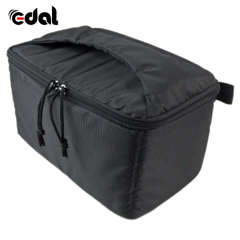 все цены на EDAL Water-resistant DSLR Padded insert Case Waterproof Zipper Removable Partition Camera Bags