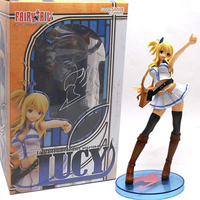 Anime Fairy Tail Lucy Figure 21 cm Blanc Robe Lucy Heartfilia Cosplay PVC Figurines Jouets Collection Modèle Jouet Avec boîte