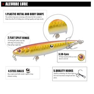 Image 2 - Señuelo para Pesca con lápiz, cabeza de serpiente, cebo Artificial duro, ojos 3D, 6 ganchos, Wobblers de Pesca, Crankbait para piscardo, 8cm, 9,5g