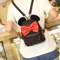 2019 New Mickey Backpack Female Mini Bag Women's Backpack Toy Backpack Kawaii Animals Bag Minni Mickey the Mouse Plush Bag