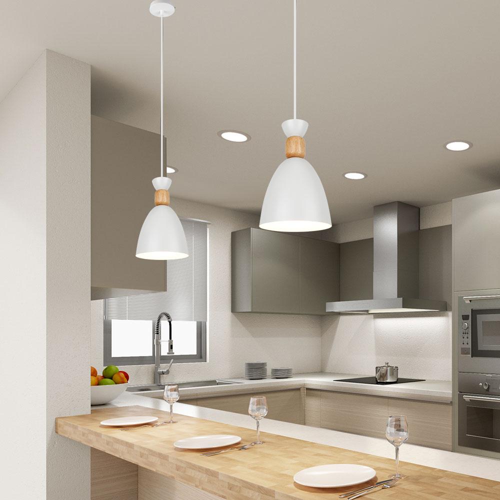 Image 3 - LED Pendant Lamp Modern Hanging Lights Pendant Lighting wood Modern Lighting for Restaurant Pendant Lighting Dining room BedroomPendant Lights   -
