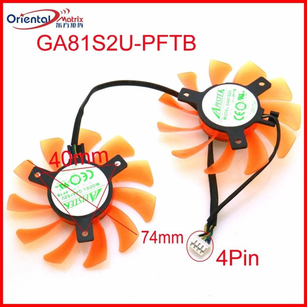 Frete grátis ga81s2u-pftb 12v 0.38a 75mm 40*40*40mm 4pin ventilador vga para zotac gtx660-2gd5 fã de placa gráfica