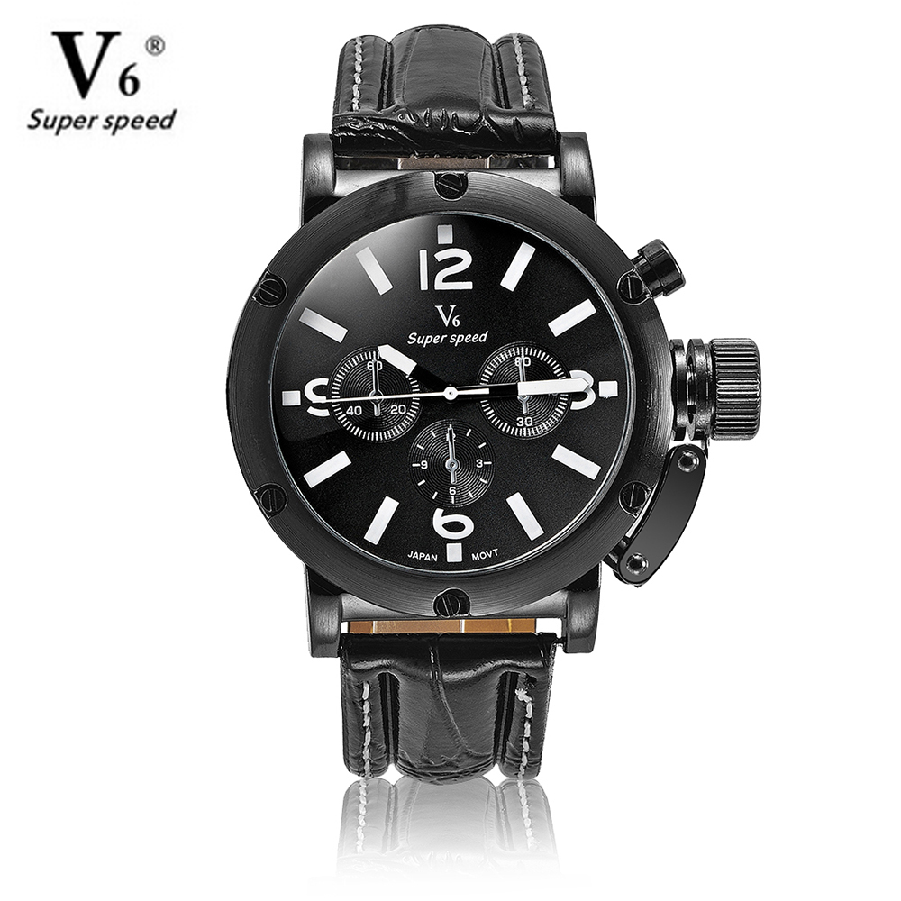 V6 Luxury Brand Beinuo Quartz Watches Men Leather Watch Outdoor Casual Wristwatch Male Clock relojes hombre Relogio Masculino men watch relogio masculino top brand luxury leather military watches clock men quartz watches relojes hombre wristwatch lsb1437